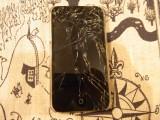 iPhone4を落として画面が割れました
